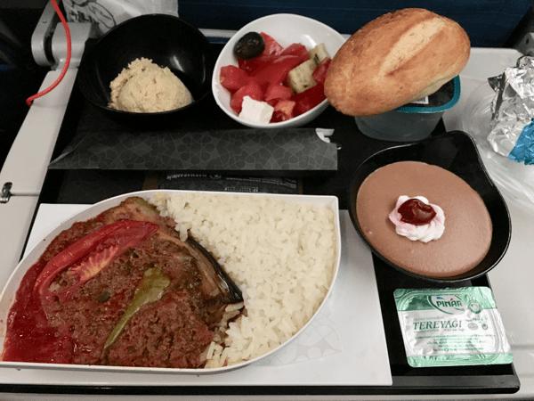 ターキッシュエアライン機内食