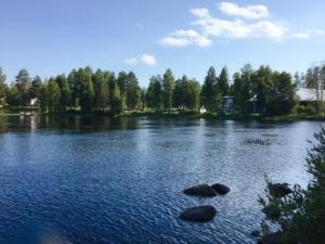 夏のフィンランドの美しい湖